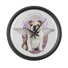 Bulldog Angel Large Wall Clock