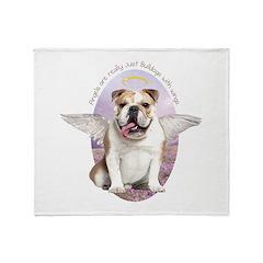 Bulldog Angel Throw Blanket