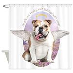 Bulldog Angel Shower Curtain