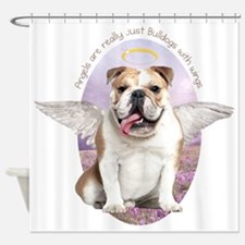 Bulldog Angel Shower Curtain
