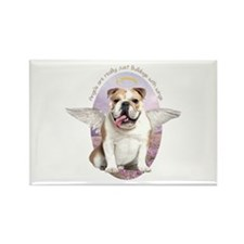 Bulldog Angel Rectangle Magnet