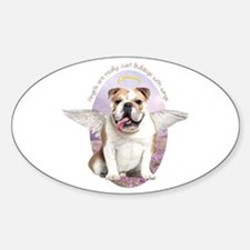Bulldog Angel Sticker (Oval)