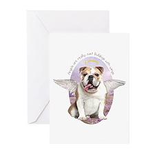 Bulldog Angel Greeting Cards (Pk of 10)