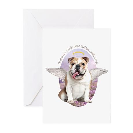 Bulldog Angel Greeting Cards (Pk of 20)