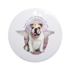 Bulldog Angel Ornament (Round)