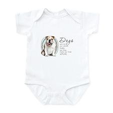 Dogs Make Lives Whole -Bulldog Infant Bodysuit