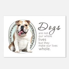 Dogs Make Lives Whole -Bulldog Postcards (Package