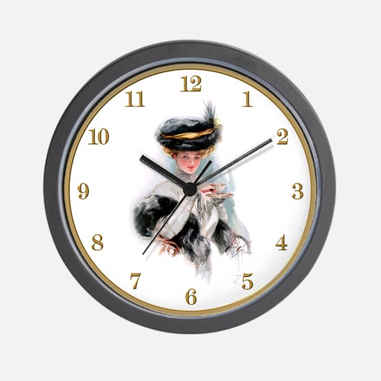 Harrison Fisher's Tea Time Wall Clock