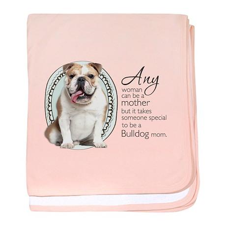 Bulldog Mom baby blanket