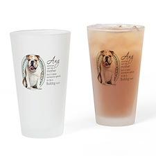 Bulldog Mom Drinking Glass