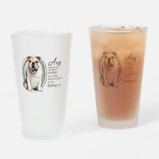 Bulldog Mom Drinking Glass