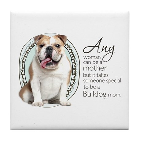 Bulldog Mom Tile Coaster