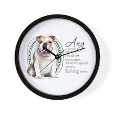 Bulldog Mom Wall Clock
