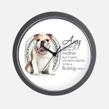 Bulldog Mom Wall Clock