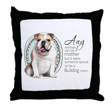 Bulldog Mom Throw Pillow