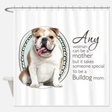 Bulldog Mom Shower Curtain