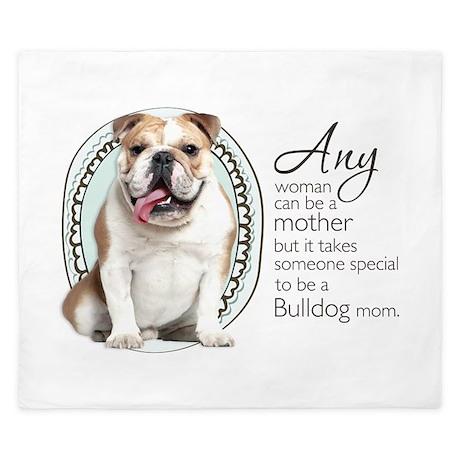Bulldog Mom King Duvet