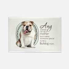 Bulldog Mom Rectangle Magnet