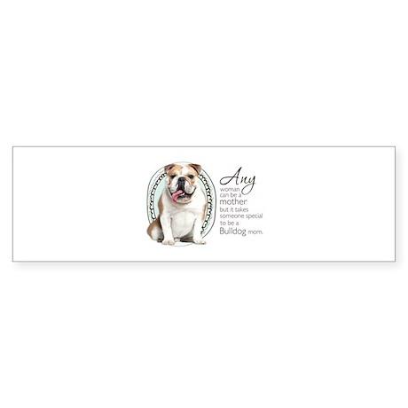 Bulldog Mom Sticker (Bumper)