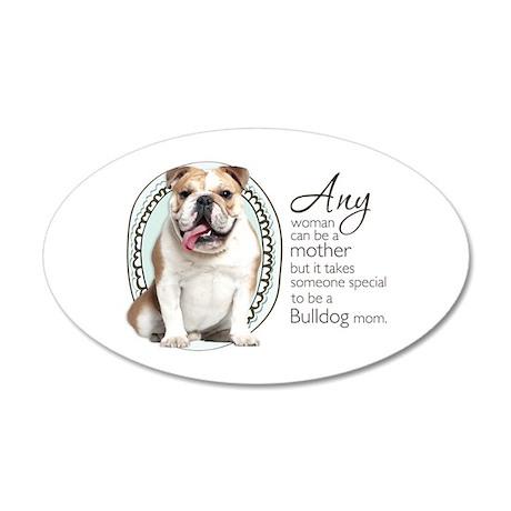 Bulldog Mom 38.5 x 24.5 Oval Wall Peel