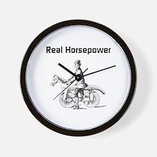 Real Horsepower Wall Clock