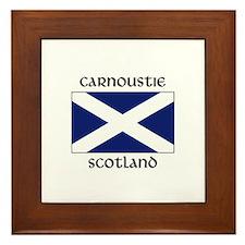 Cute Scottish flag Framed Tile