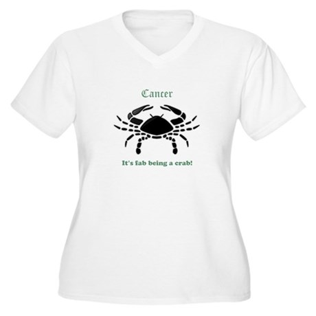 Cancer Fab Women's Plus Size V-Neck T-Shirt
