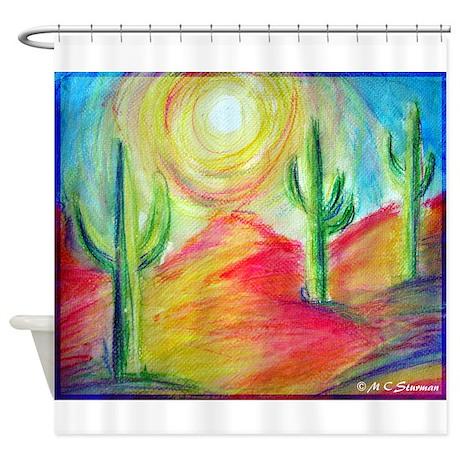 Desert, Sunset, art, Shower Curtain