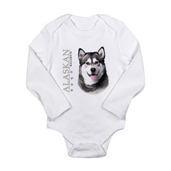 Alaskan Malamute Long Sleeve Infant Bodysuit