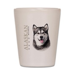 Alaskan Malamute Shot Glass