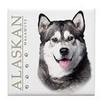 Alaskan Malamute Tile Coaster