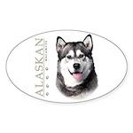 Alaskan Malamute Sticker (Oval 10 pk)