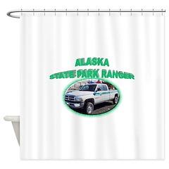 Alaska State Park Ranger Shower Curtain
