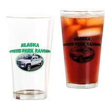 Alaska State Park Ranger Drinking Glass