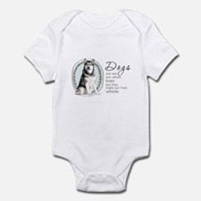 Dogs Make Lives Whole -Malamute Infant Bodysuit