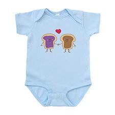 Peanut Butter Loves Jelly Infant Bodysuit