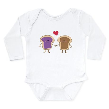 Peanut Butter Loves Jelly Long Sleeve Infant Bodys