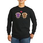Peanut Butter Loves Jelly Long Sleeve Dark T-Shirt