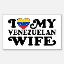 I Love My Venezuelan Wife Decal