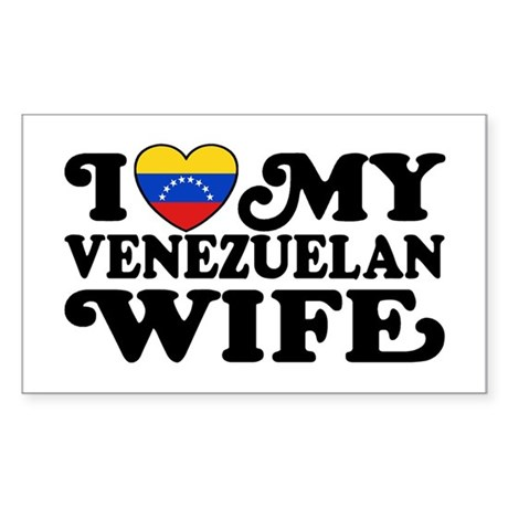 I Love My Venezuelan Wife Sticker (Rectangle)
