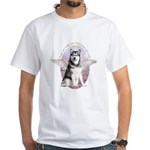 Malamute Angel White T-Shirt