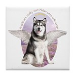 Malamute Angel Tile Coaster
