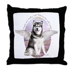 Malamute Angel Throw Pillow