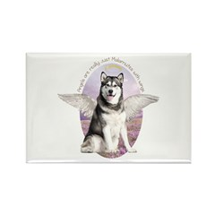 Malamute Angel Rectangle Magnet (100 pack)