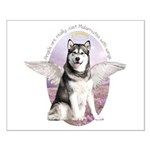 Malamute Angel Small Poster