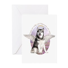 Malamute Angel Greeting Cards (Pk of 10)