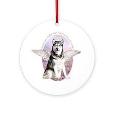 Malamute Angel Ornament (Round)
