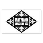 Maryland Girls Kick Ass Sticker (Rectangle 10 pk)