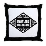 Maryland Girls Kick Ass Throw Pillow