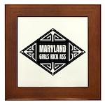 Maryland Girls Kick Ass Framed Tile